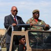 President Zuma hail praise to the army