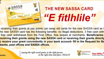 SASSA FREE STATE BENEFICIARY AWARENESS KEY MESSAGES ON PHASE IN/PHASE OUT PROJECT