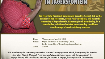 Premier Ntombela Leads Community Engagement In Jagersfontein
