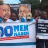 100  MEN  MARCH   FOR  MADIBA   ON  VIOLENCE   AGAINST   WOMEN   AND