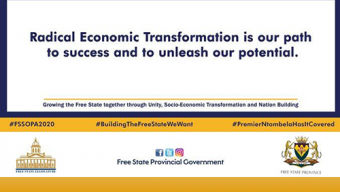 Radical Economic Transformation (Free State SOPA 2020)