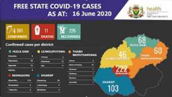 Free State COVID 19 Cases